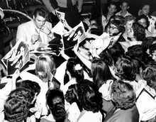 Elvis Presley among his Fans
