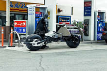 Bat-Pod at the Gas Station
