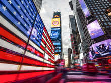 Stars and Stripes at Times Square